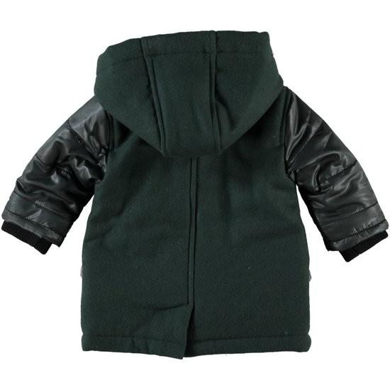 Imps&Elfs houtje touwtje winterjas groen / zwart