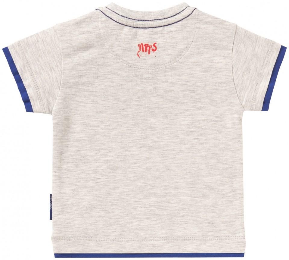 Noppies t-shirt grijs blauw Vissen