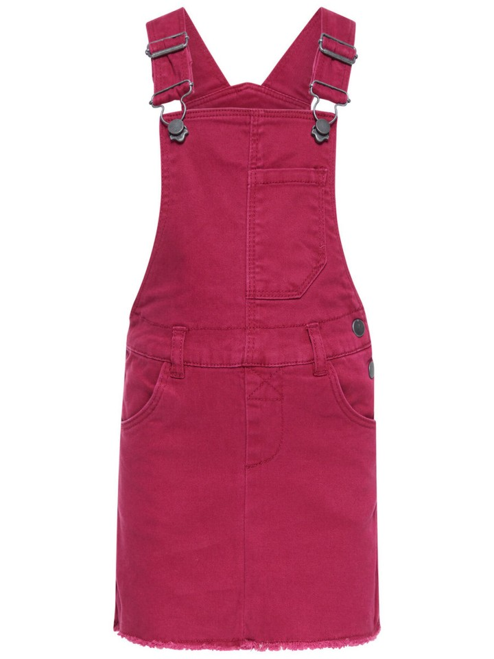 Name-it jurk overgooier bordeaux rood
