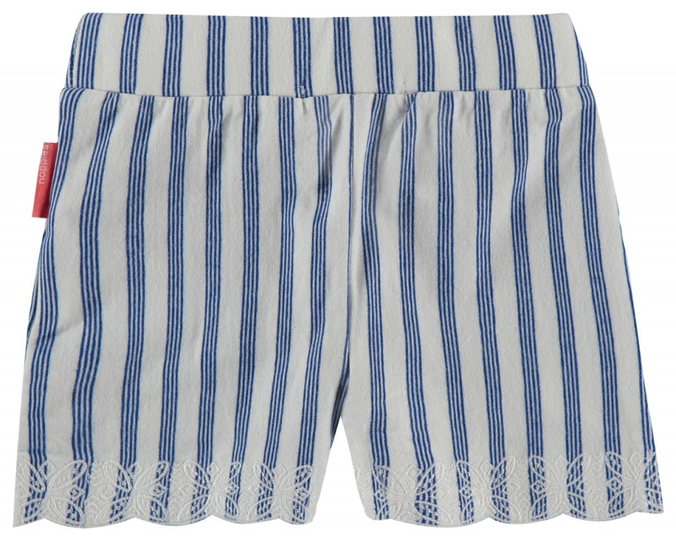 Noppies short off white kobalt blauw streep
