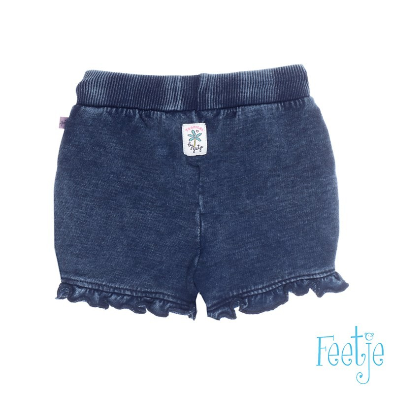 Feetje short denim ruches Tropical Girl