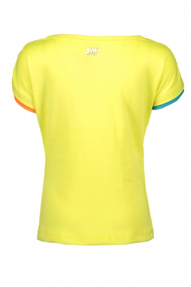 Kidz Art t-shirt neon geel Stole