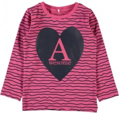 Name-it longsleeve pink Awesome