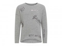 Name-it longsleeve grijs melange Awesome