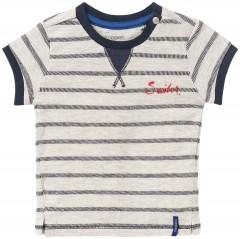 Noppies t-shirt grijs navy streep Sailer