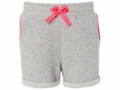 Noppies sweat short grijs neon