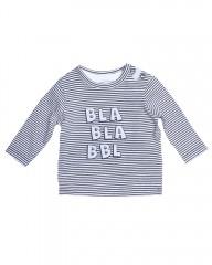 Beebielove longsleeve grijs gestreept BLA BLA