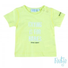 Feetje t-shirt lime Crying is for babies Stay Wild