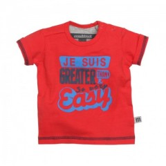 Moodstreet t-shirt rood Je Suis Greater