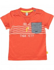 Babyface t-shirt oranje Are we there yet