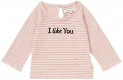 Noppies longsleeve blush oud roze gestreept