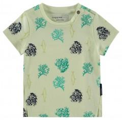 Noppies t-shirt pistache met print