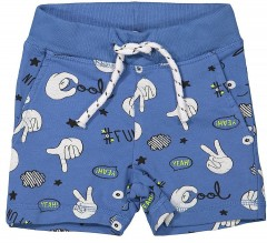 Name-it short blauw print Faboomy