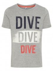 Name-it t-shirt grijs Dive