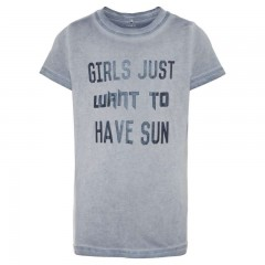 Name-it t-shirt blauw grijs Sun
