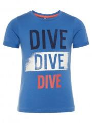 Name-it t-shirt delft blauw Dive