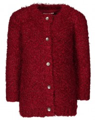 Name-it vest bordeaux rood fluffy