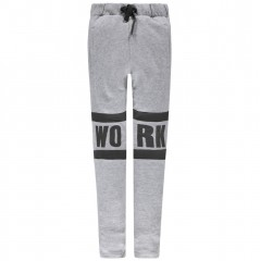 LMTD sweat broek grijs melange New York