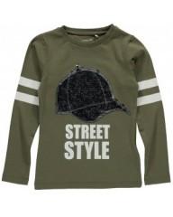 Name-it longsleeve groen Street Style
