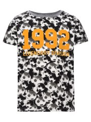 Name-it t-shirt zwart oker voetbal 1992