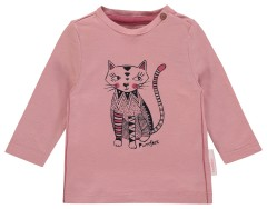 Noppies longsleeve roze poes Purrrfect