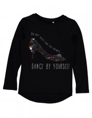 Name-it longsleeve zwart pailletten Dance