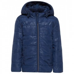 Name-it winterjas donkerblauw camou