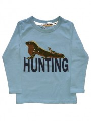 Name-it longsleeve lichtblauw pailletten Hunting