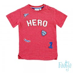 Feetje t-shirt rood Hero Gym