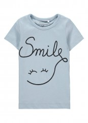 Name-it t-shirt cashmere blauw Smile