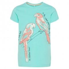 Name-it t-shirt blauw Papegaai