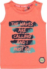 Quapi tanktop neon orange Waves