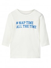Name-it longsleeve off white Nap time