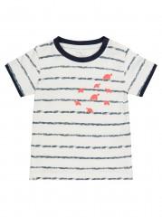 Name-it t-shirt off white navy Schildpad