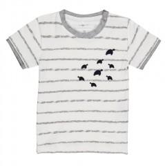 Name-it t-shirt off white grijs Schildpad
