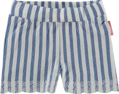 Noppies short off white kobalt blauw streep