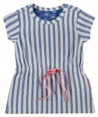 Noppies jurk off white kobalt blauw streep