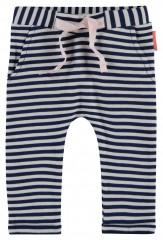 Noppies broek wit blauw gestreept