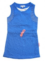 Noppies jurk kobalt blauw Ster