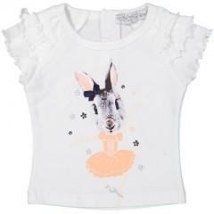 Dirkje t-shirt wit konijn