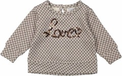 Dirkje sweater beige dots Love