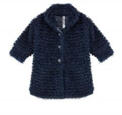 Ducky beau vest jasje blauw fluffy