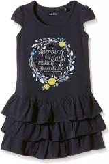 Blue Seven jurk blauw Flowerchains
