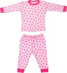 Beeren pyjama stripe star roze