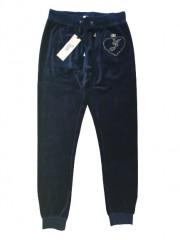 Jacky Luxury broek blauw velours