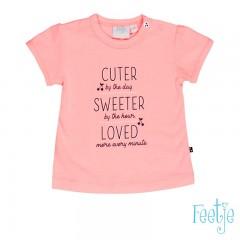 Feetje t-shirt koraal Cherry Sweet