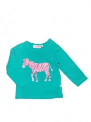 Someone longsleeve dark mint Zebra