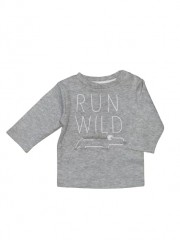 Zero2Three longsleeve grijs Run Wild