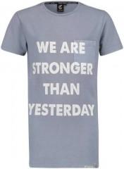 Crush denim t-shirt blauw indigo Stronger