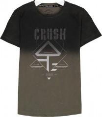 Crush denim t-shirt zwart army Logo Gradene